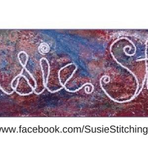 susie martin textile art stitched logo