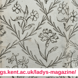 Dr Jennie Batchelor The Lady's Magazine embroidery pattern Lady's Muff