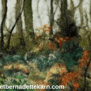 bridget bernadette karn felt artist frosted woodland