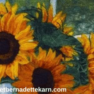 bridget bernadette karn felt artist sunflowers