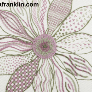 tracy a franklin hand embroidery specialist crewel flower