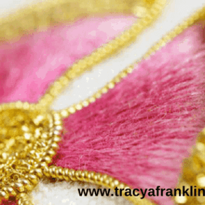tracy a franklin hand embroidery specialist embroidered logo detail