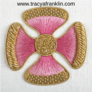 tracy a franklin hand embroidery specialist logo