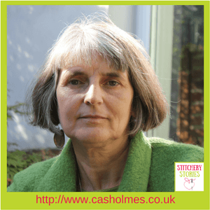 Cas Holmes Stitchery Stories Textile Art Podcast Guest
