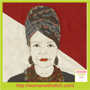 Sue Stone Stitchery Stories Podcast Guest This Is Me (Turban)