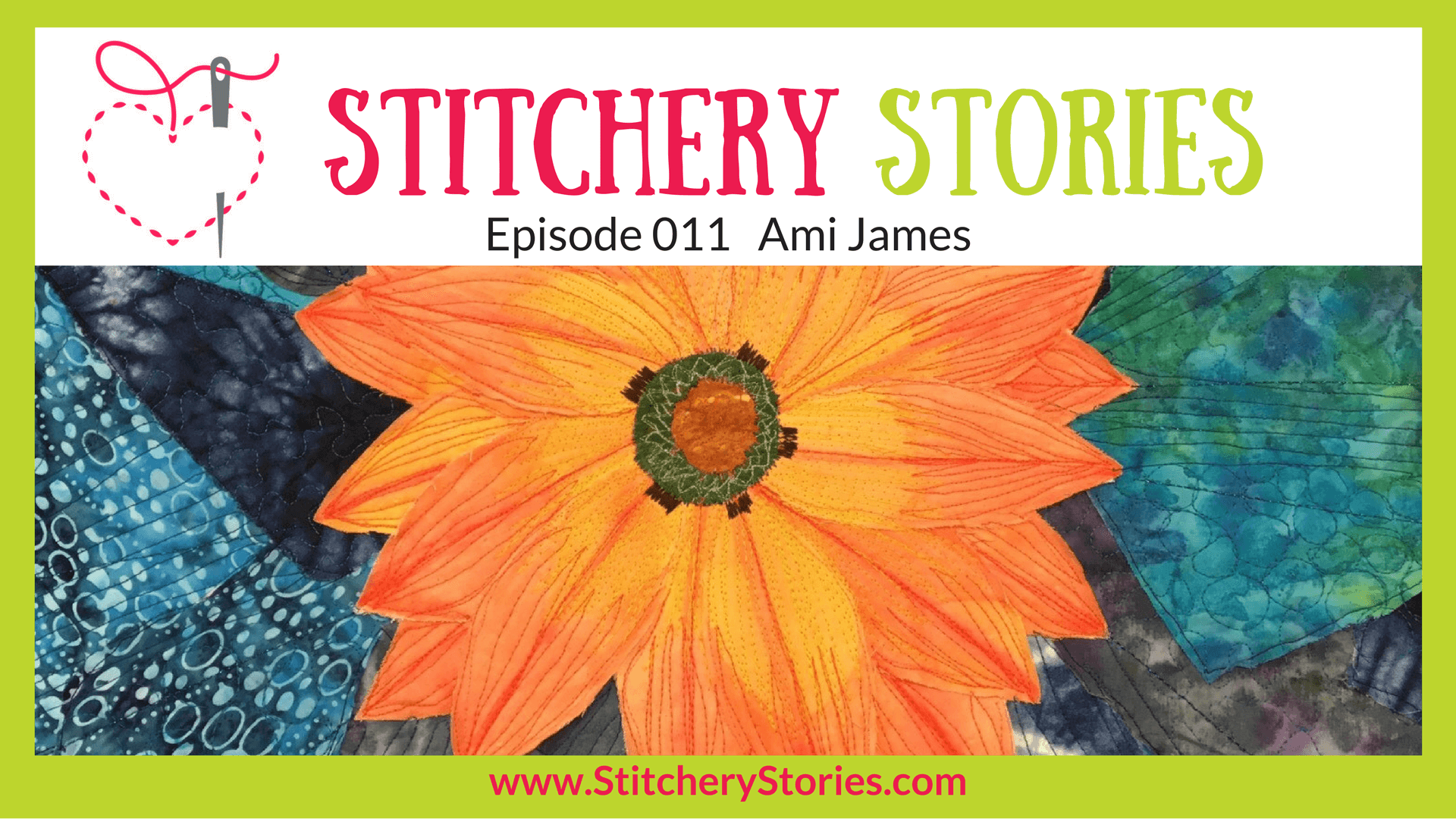 Ami James Stitchery Stories Podcast Wide Art