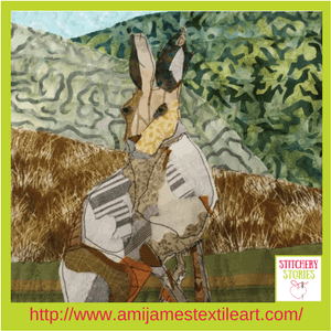 Ami James Textile Artist Hare Quilt Stitchery Stories Podcast Guest