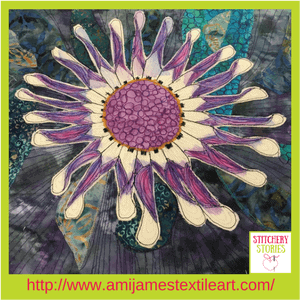 Ami James Textile Artist Passion Flower Quilt Stitchery Stories Podcast Guest (1)