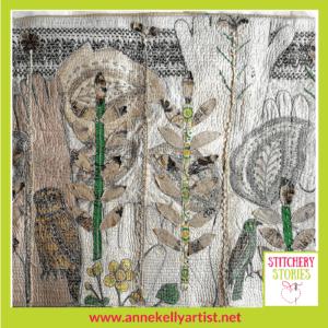Anne Kelly Textile Artist Glove Forest Stitchery Stories Podcast