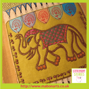 Chris Gray Textile Artist Indian Elephant Tile Stitchery Stories Podcast