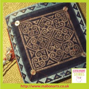 Chris Gray Textile Artist Medieval Tile 1 Stitchery Stories Podcast