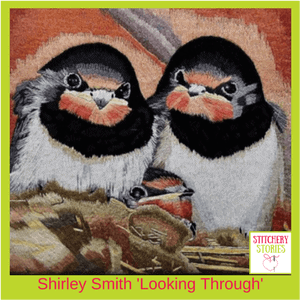 Shirley Smith Looking Through Stitchery Stories Podcast Guest