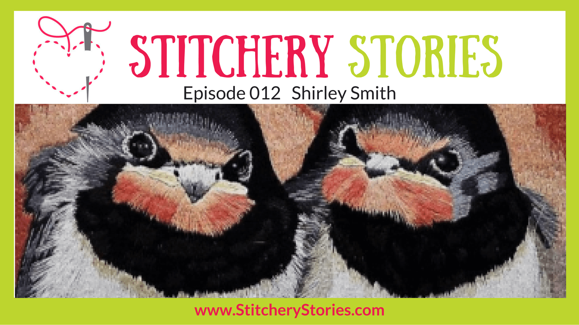 Shirley Smith Stitchery Stories textile art Podcast Wide Art