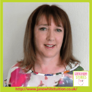 Jane White Couture Dressmaking Tuition Stitchery Stories Textile Art Podcast Guest