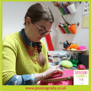 Jessica Grady Embroidery Artist Stitchery Stories Textile Art Podcast Guest