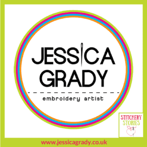 Jessica Grady Logo Stitchery Stories Textile Art Podcast Guest
