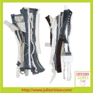 Julia Triston Textile Artist Seams of Identity Series 2 nos 1 & 2 Stitchery Stories Textile Art Podcast