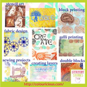 Jamie Malden Colouricious Printology workshop inspiration Stitchery Stories Textile Art Podcast Guest