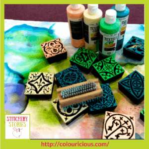 Jamie Malden Colouricious block printing supplies Stitchery Stories Textile Art Podcast Guest