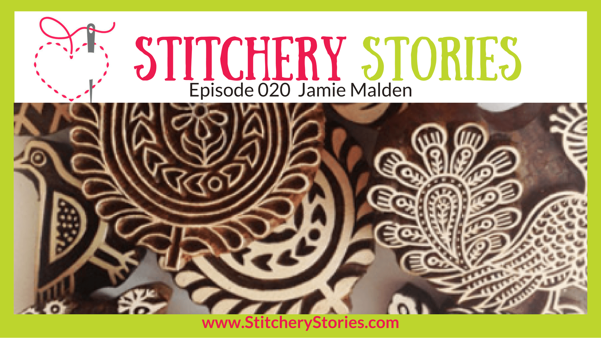 Jamie Malden Stitchery Stories Textile Art Podcast Wide Art