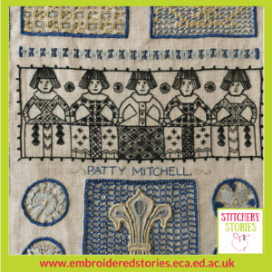 Lindy Richardson Edinburgh College Of Art Needlework Development Scheme project image2 Stitchery Stories Textile Art Podcast Guest
