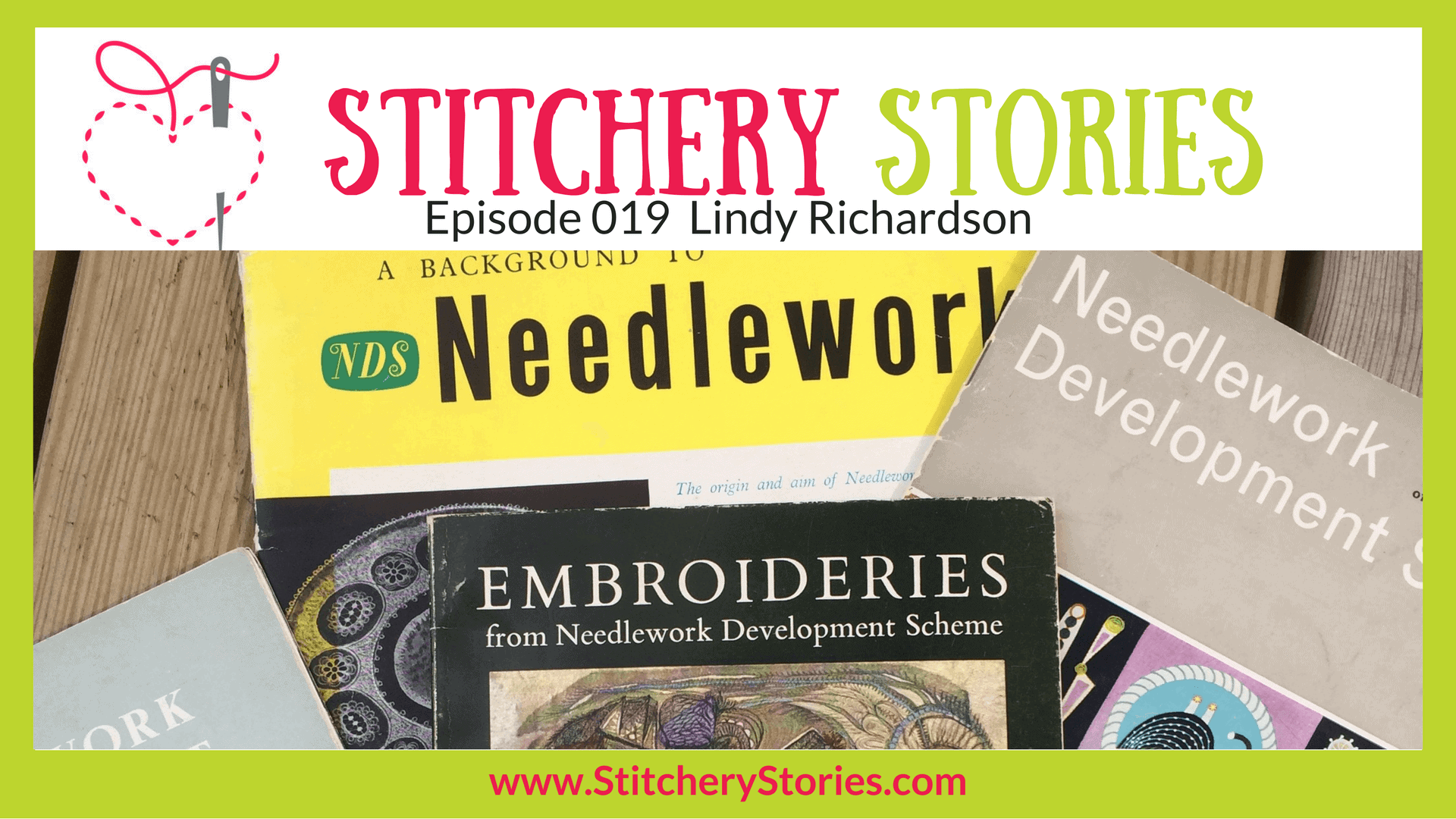 Lindy Richardson Stitchery Stories Textile Art Podcast Wide Art