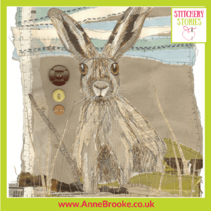 Anne Brooke Harold The Hare Stitchery Stories Textile Art Podcast Guest