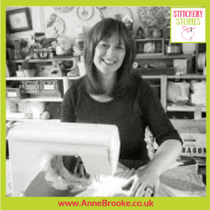 Anne Brooke Stitchery Stories Textile Art Podcast Guest