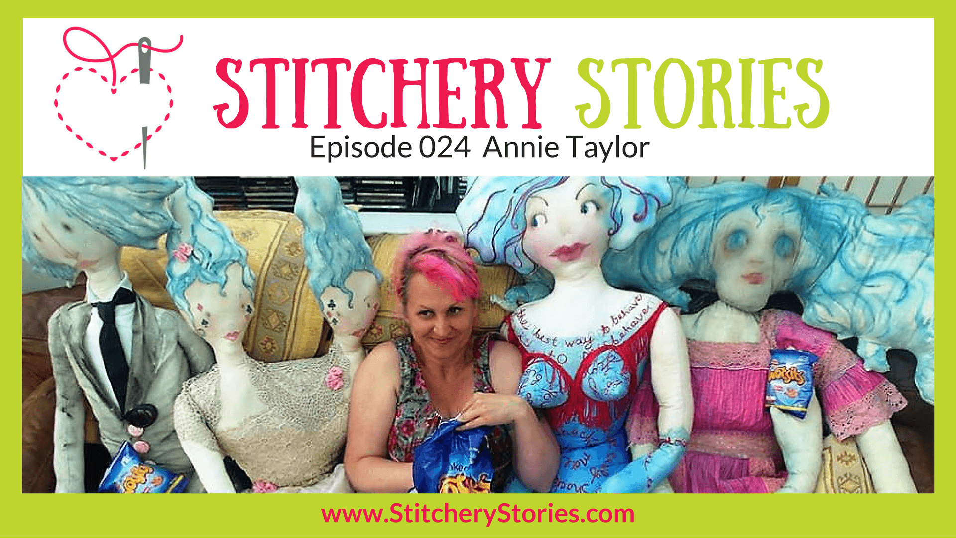 Annie Taylor Stitchery Stories Textile Art Podcast Wide Art