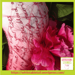 Annie Taylor embroidered text Stitchery Stories Textile Art Podcast Guest