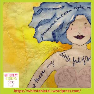 Annie Taylor wip Sheela-Na-Nig Stitchery Stories Textile Art Podcast Guest