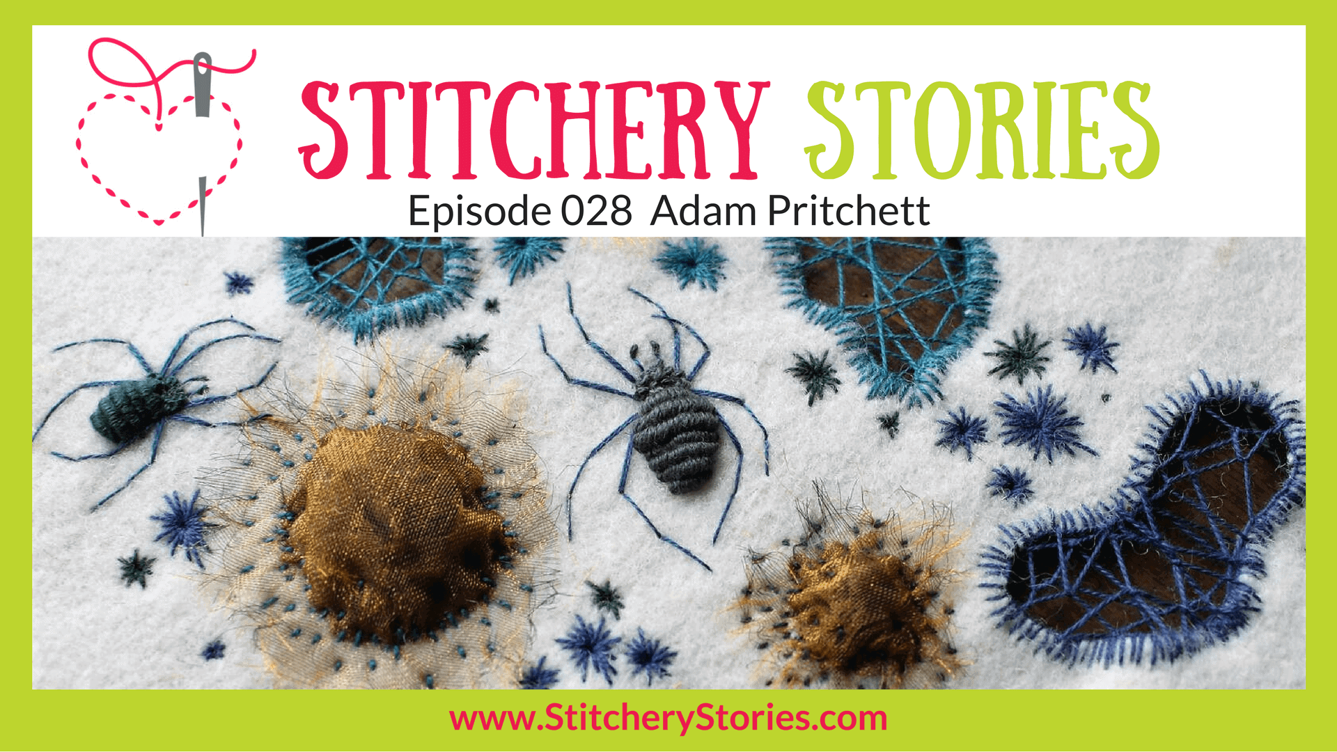 Adam Pritchett Stitchery Stories Textile Art Podcast Wide Art