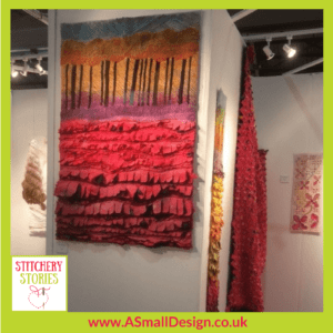 Ann Small Exhibition Knitting & Stitching Show 2017 Stitchery Stories Textile Art Podcast Guest
