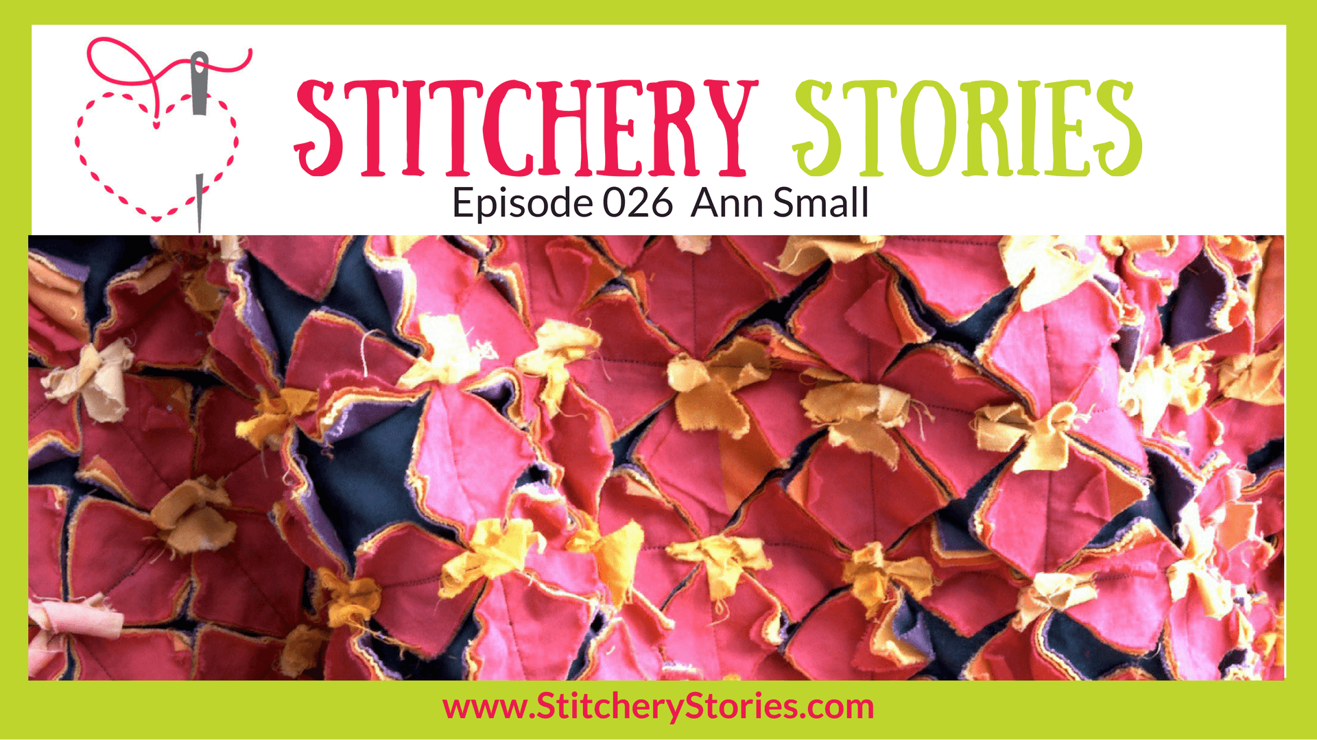 Ann Small Stitchery Stories Textile Art Podcast Wide Art