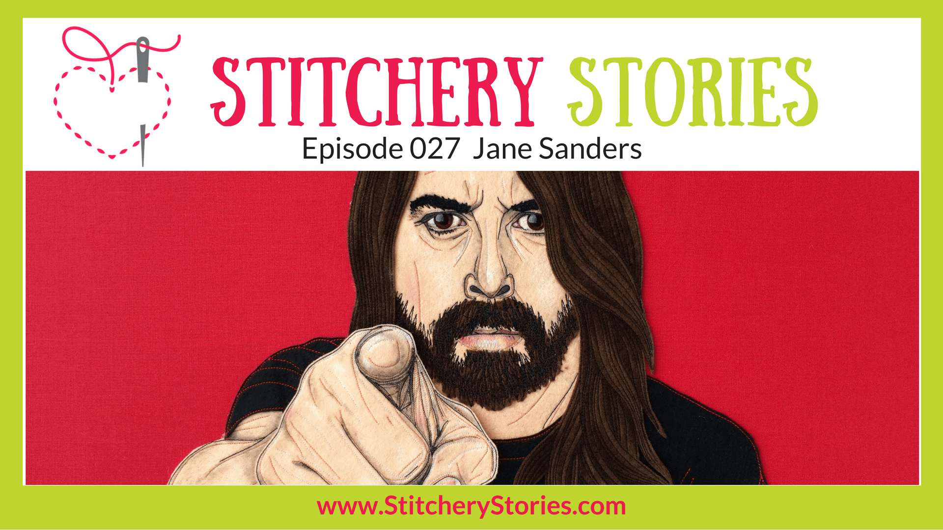 Jane Sanders Stitchery Stories Textile Art Podcast Wide Art