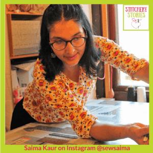 Saima Kaur textile artist Stitchery Stories Textile Art Podcast Guest