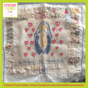 Slow Stitch 1 Yvonne Fuchs _ Stitchery Stories Textile Art Podcast Guest