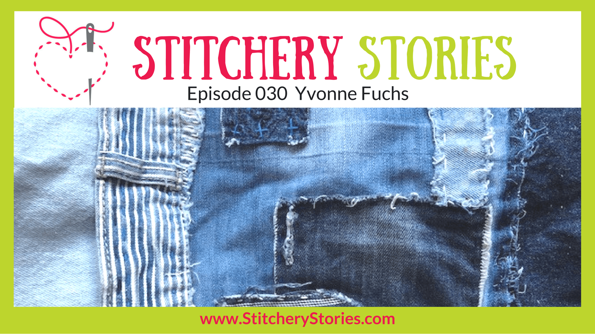 Yvonne Fuchs Stitchery Stories Textile Art Podcast Wide Art