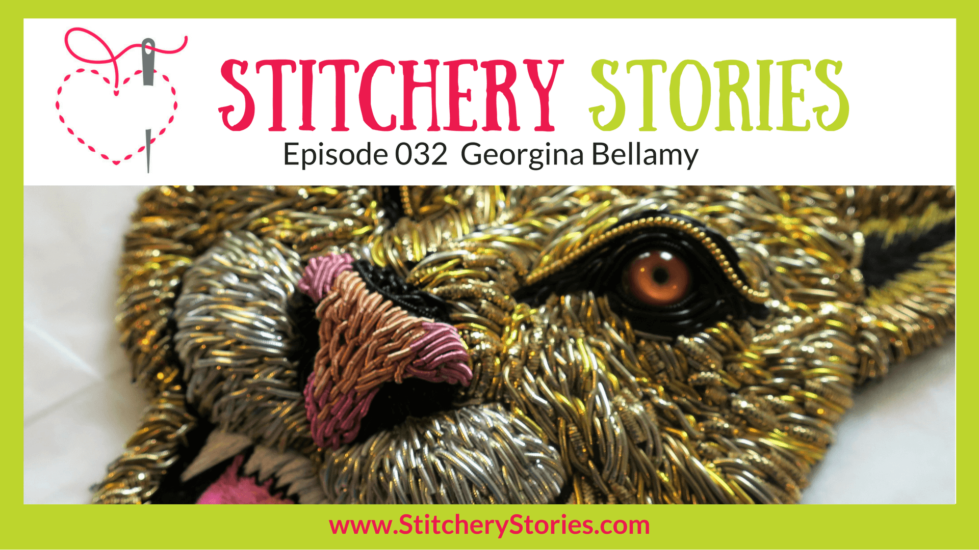 Georgina Bellamy Stitchery Stories Textile Art Podcast Wide Art