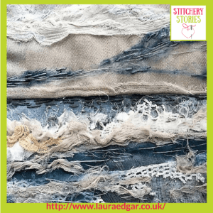 My Mothers Sea by Laura Edgar Stitchery Stories Textile Art Podcast Guest
