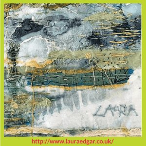 The Lake by Laura Edgar Stitchery Stories Textile Art Podcast Guest