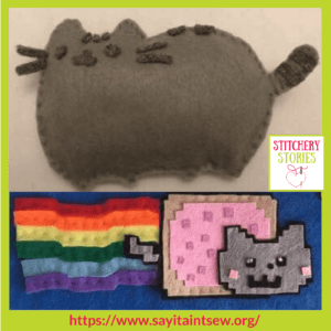 Cat Projects at Say It Aint Sew Iona Barker Stitchery Stories Textile Art Podcast Guest