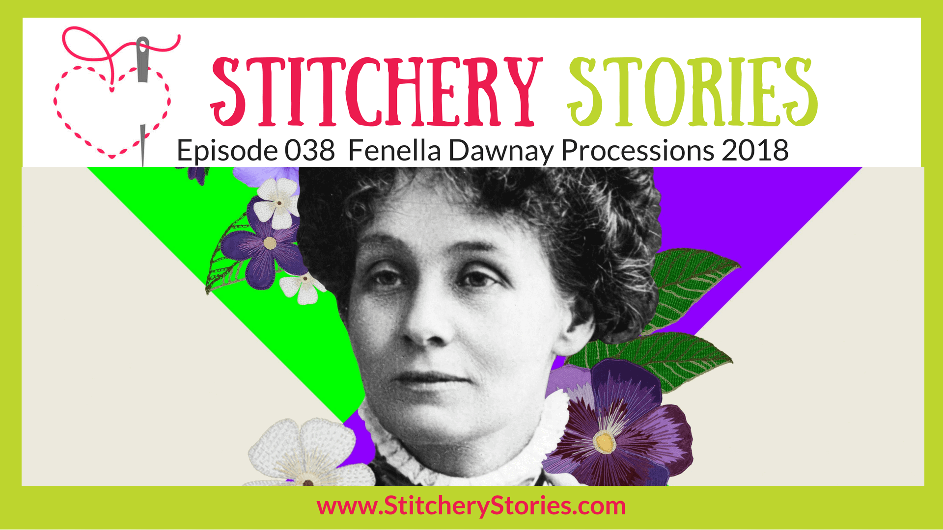 Fenella Dawnay Processions 2018 Stitchery Stories Textile Art Podcast Wide Art