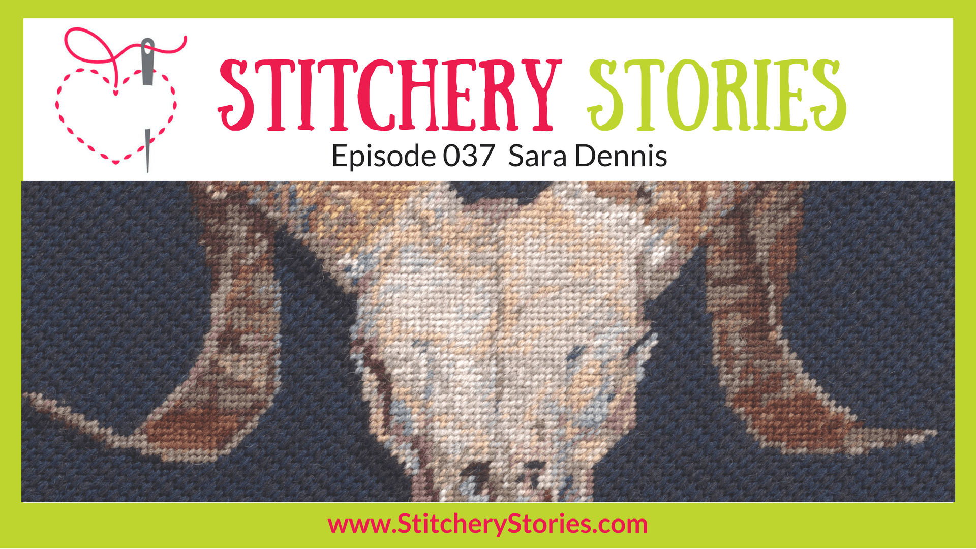 Sara Dennis Hand Embroidery Tutor Stitchery Stories Textile Art Podcast Wide Art