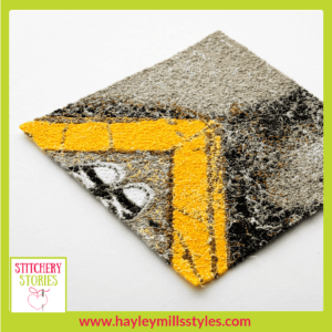 Converse Selfie with Yellow Curb by Hayley Mills-Styles Stitchery Stories Textile Art Podcast Guest