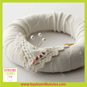 Wreath by Hayley Mills-Styles Stitchery Stories Textile Art Podcast Guest