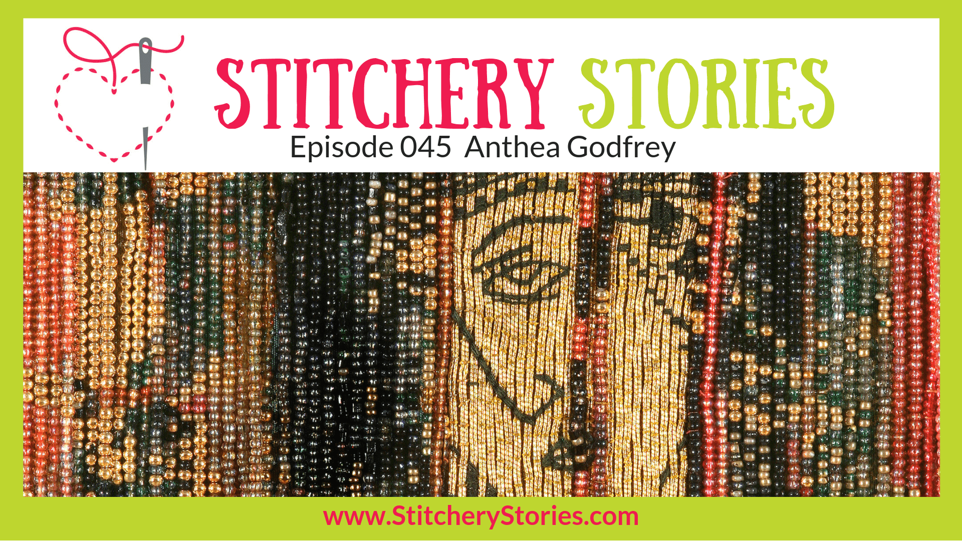 Anthea Godfrey Textile Artist Stitchery Stories Textile Art Podcast Wide Art