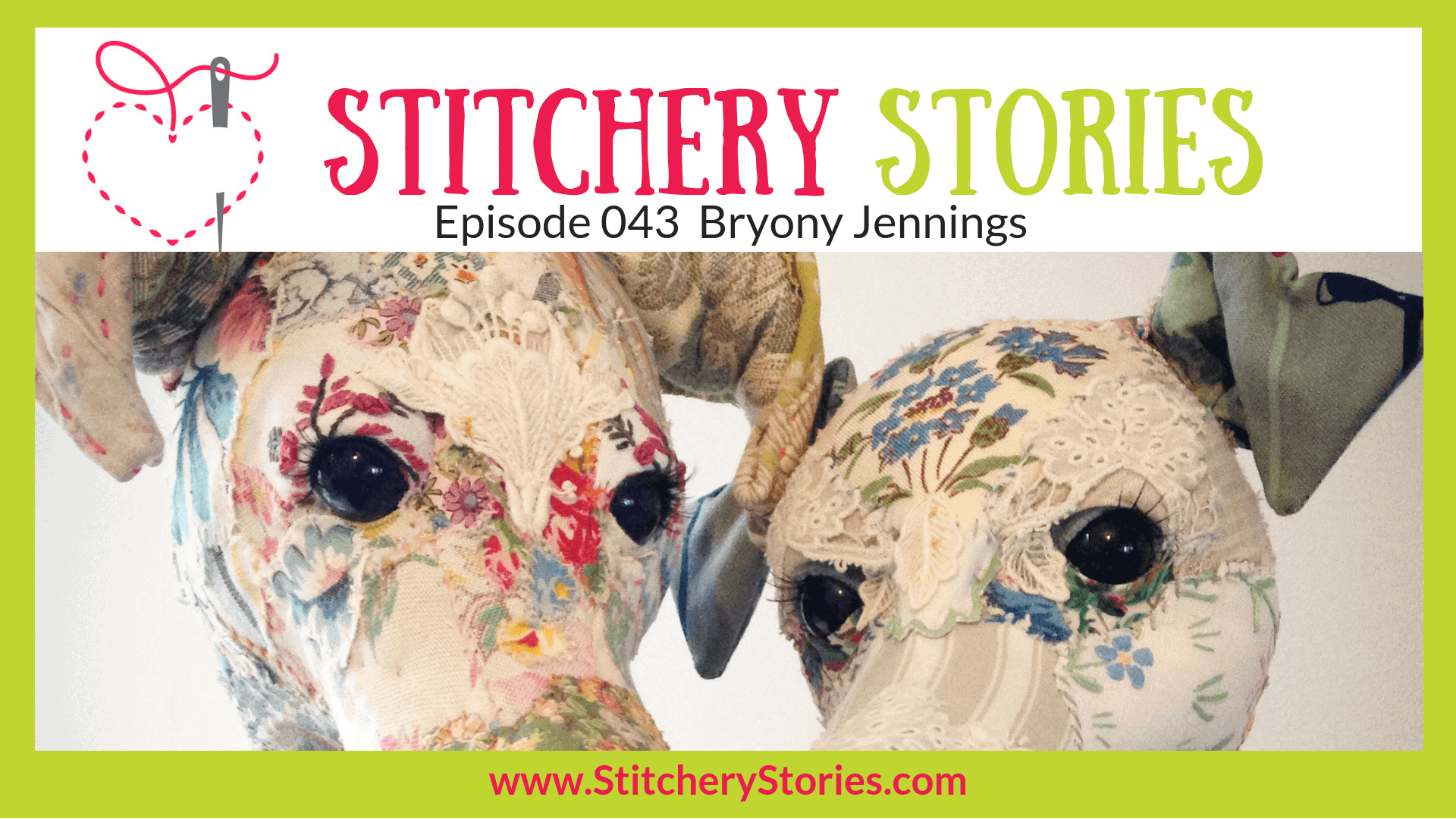 Bryony Jennings Textile Artist Stitchery Stories Textile Art Podcast Wide Art