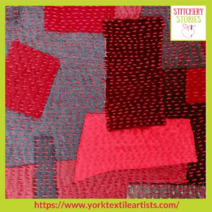 Jill Shepherd York Textile Artists group_ Stitchery Stories Textile Art Podcast Guest