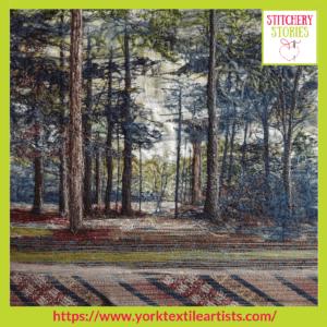 Justine Warner York Textile Artists group_ Stitchery Stories Textile Art Podcast Guest